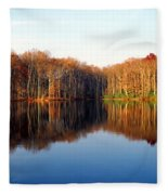 Mirror Lake Panoramic Fleece Blanket