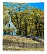 Mission Point Light House Michigan Fleece Blanket
