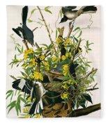 Mocking Birds And Rattlesnake Fleece Blanket