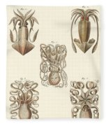 Molluscs Or Soft Worms Fleece Blanket