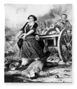 Molly Pitcher (c1754-1832) Fleece Blanket