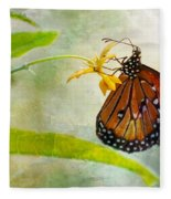 Queen Butterfly Danaus Gilippus Fleece Blanket