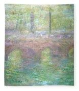 Monet's Waterloo Bridge In London At Dusk Fleece Blanket