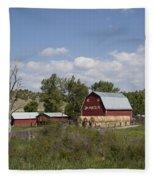 Montana Farm Fleece Blanket