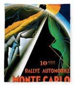 Monte Carlo Rallye Automobile Fleece Blanket