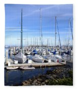 Monterey Harbor California Fleece Blanket