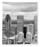 Montreal View Fleece Blanket