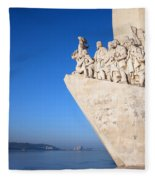 Monument To The Discoveries In Lisbon Fleece Blanket