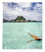 Moorea Woman Floating Fleece Blanket