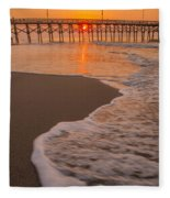 morning at  Myrtle Beach South Carolina Fleece Blanket