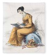 Morning Dress, Fashion Plate Fleece Blanket