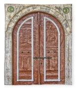 Mosque Doors 09 Fleece Blanket