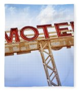 Motel Sign Fleece Blanket