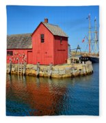 Motif Number One Rockport Lobster Shack Maritime Fleece Blanket