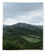 Mountain Landscape Of Italy Fleece Blanket
