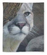 Mountain Lion Painterly Fleece Blanket