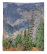 Mountains And Trees Fleece Blanket