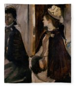 Mrs Jeantaud In The Mirror Fleece Blanket