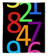 Multi-color Numbers Fleece Blanket