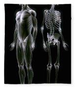 Muscles And Bones Fleece Blanket