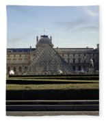 Musee Du Louvre In Paris France Fleece Blanket