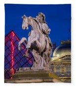 Musee Du Louvre Statue Fleece Blanket