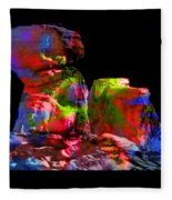 Mushroom Rock Fleece Blanket