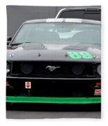 Mustang Race Car Fleece Blanket