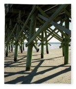 Myrtle Beach Pier Fleece Blanket