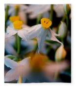 Narcissus Tazetta Fleece Blanket