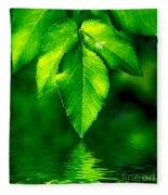 Natural Leaves Background Fleece Blanket
