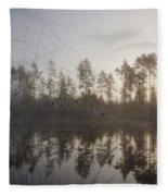 Natural Network Fleece Blanket