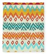Navajo Mission Round Fleece Blanket