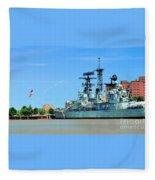 Naval Park And Museum Fleece Blanket