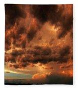 Nebraska Thunderset Fleece Blanket