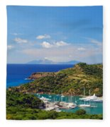 Nelson's Dockyard Fleece Blanket