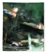 Nest Of American Robins Fleece Blanket