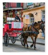New Orleans - Carriage Ride Fleece Blanket