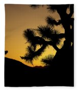 New Photographic Art Print For Sale Joshua Tree At Sunset Fleece Blanket