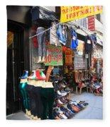 New York City Storefront 8 Fleece Blanket
