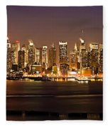 New York City Skyline Fleece Blanket