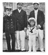 Nicholas II & George V, 1909 Fleece Blanket