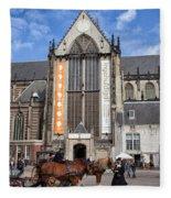 Nieuwe Kerk In Amsterdam Fleece Blanket