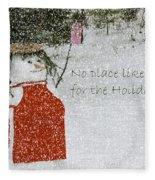 No Place Like Home Fleece Blanket