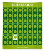 No120 My Green Lantern Minimal Movie Poster Fleece Blanket