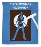 No246 My The Shawshank Redemption Minimal Movie Poster Fleece Blanket