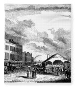 Norfolk, Virginia, 1856 Fleece Blanket