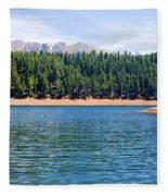 North Catamount Lake Fleece Blanket