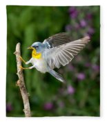 Northern Parula Warbler Fleece Blanket