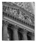 Nyse  New York Stock Exchange Wall Street Fleece Blanket